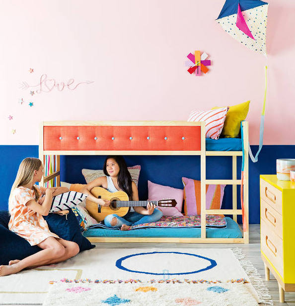 kura-bed-with-a-colorful-tufted-upgrade